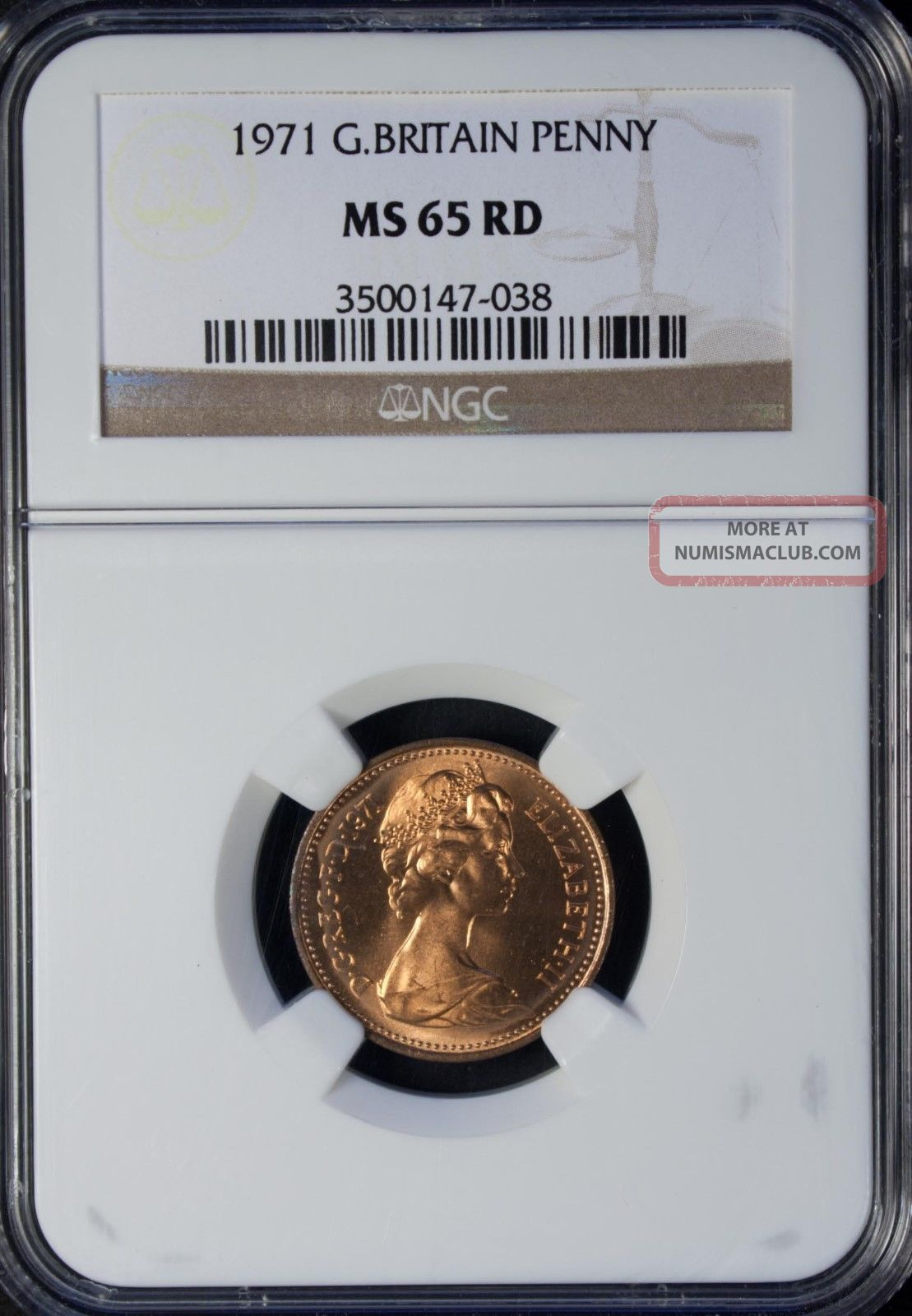 1971 Great Britain 1 Penny Ngc Ms 65 Rd Bronze UK (Great Britain) photo