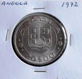 Portugal / Angola - 20 Escudos - 1972 - Unc photo