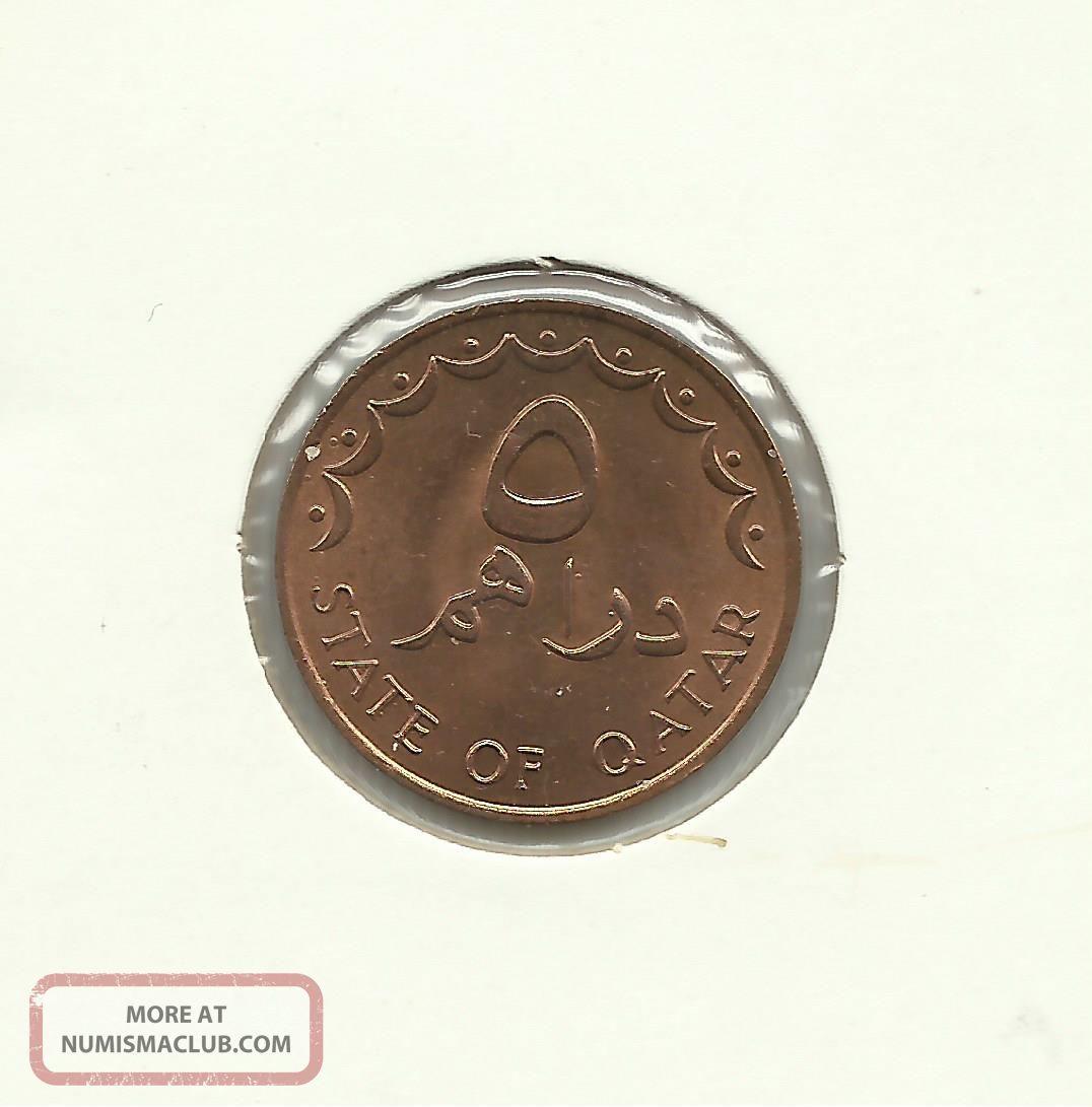 Zj116 - Qatar - 5 Dirhems Ah1398 (1978) Standard Coinage Middle East photo