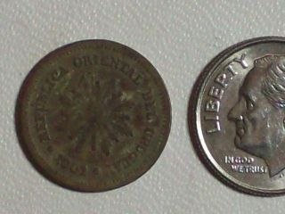 Uruguay 1901 A 1 Centesimo Republica Oriental Del Uruguay Dime For Size Only photo