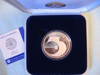 1997 Israel Jubilee 50th Anniversary State Medal 50mm 60g Pure Silver +box+coa photo