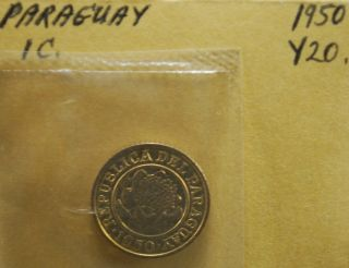 Paraguay 1950 Bu Brilliant Uncirculated 1 Centavo Coin photo