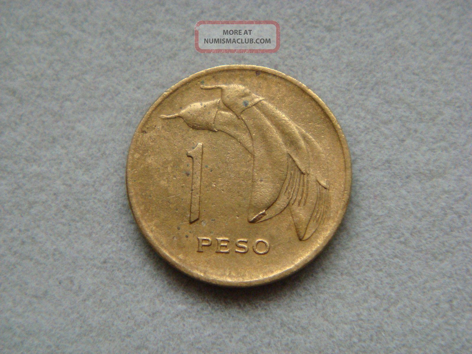 Uruguay 1 Peso,  1968 Coin. South America photo