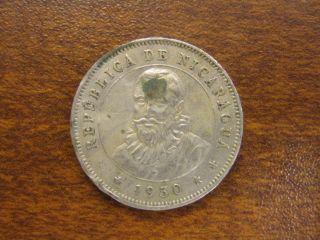 1950 Nicaragua 25 Centavos photo