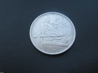 Latvia Coin 50 Santimi 1922 photo