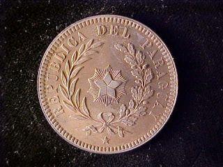 Paraguay Two Centesimos 1870 Full Red Bu photo