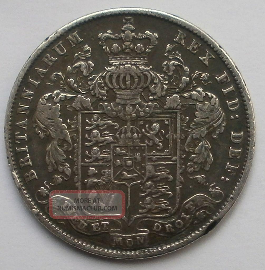 Great Britain Georgius Iv Half Crown 1826 Silver Coin