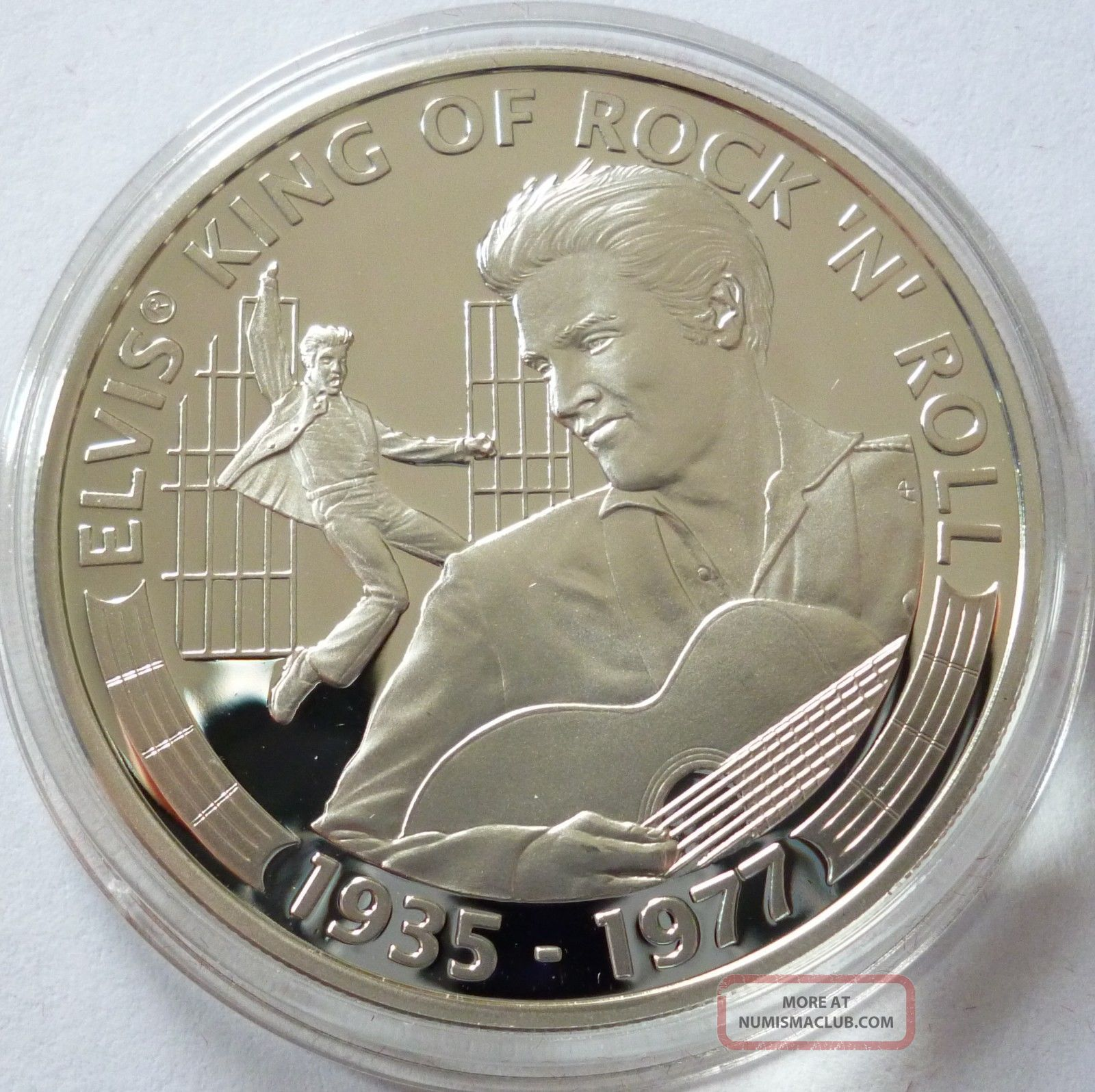 Cook Islands 5 Dollars 2007 Silver Coin Proof Elvis