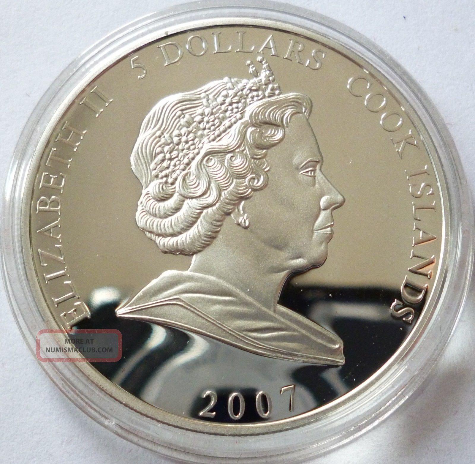 Cook Islands 5 Dollars 2007 Silver Coin Proof Elvis