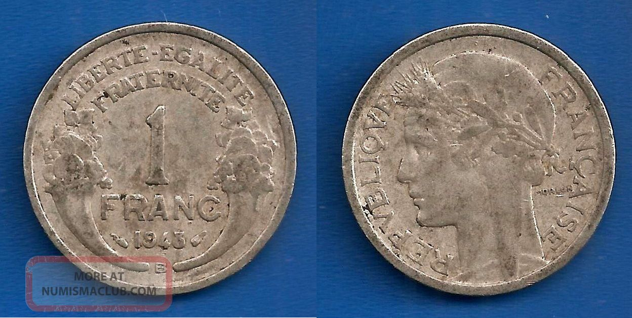 France 1 Franc 1948 B Auminium Coin Worldwide Francs Paypal Skrill Europe photo