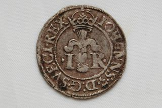 Sweden 1/2 Ore 1580 Johann Iii Silver Vf photo