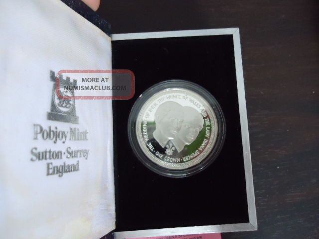 Isle Of Man: 1981 Royal Wedding Of Lady Diana,  Silver Proof Crowns,  Rare Coins: World photo