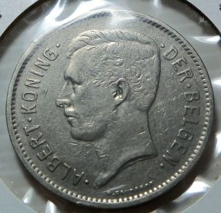 Belgium - 1930 5 Francs - Km98 - Albert Koning photo
