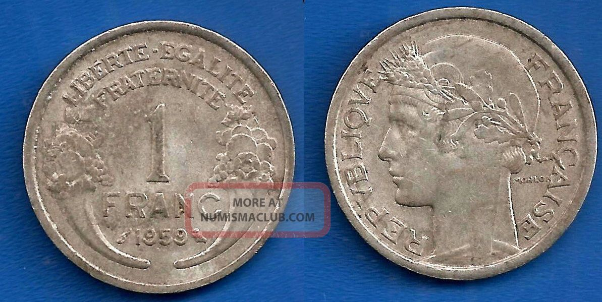 France 1 Franc 1959 Auminium Coin Worldwide Francs Paypal Skrill Europe photo
