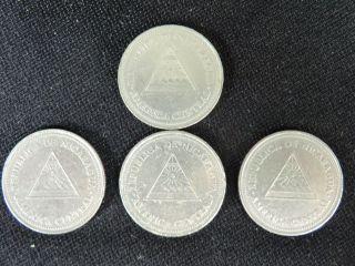 (2) 2000 - Nicaragua - 1 Cordoba Coin - photo