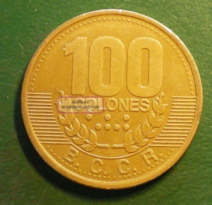 costa rica 1995 100 colones coin see all my other items 003