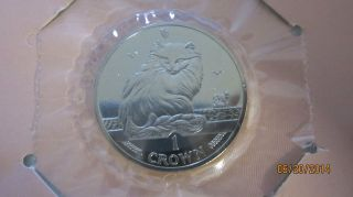Turkish Angora Cat Crown Coin 1995 - Isle Of Man / Fleetwood - photo