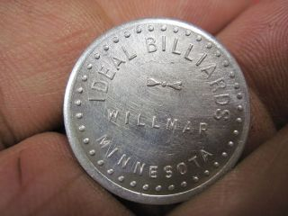 Good For 5c Cents In Trade Token Ideal Billards Willmar Mn Minnesota Coin Jmj photo