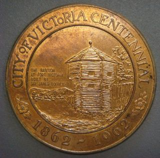 City Of Victoria Centennial 1862 - 1962,  Centennial Dollar $1.  00 photo