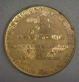 Oregon 100th Anniversary,  Klamath - Oregon ' S County Of Sunshine,  50¢ photo