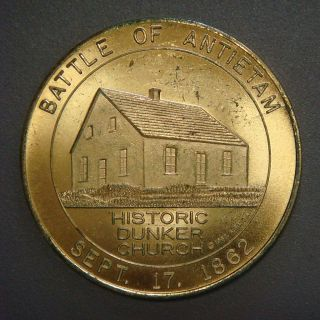 Battle Of Antietam,  Historic Dunker Church,  50¢ 1962 photo