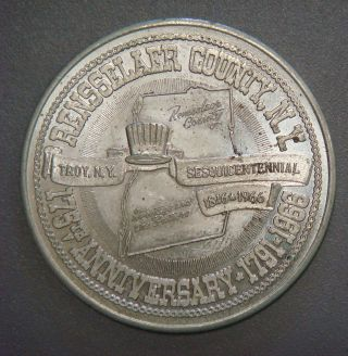 Rensselaer County,  N.  Y.  175th Anniversary,  Half Dollar,  1966 photo