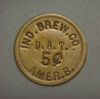 Ind Brew Co.  D.  A.  T.  5¢ Amer.  B.  (brewing) (millvale,  Pa. ) ( (r - 6) photo