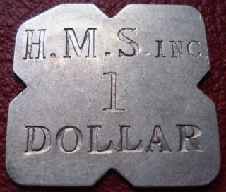 H.  M.  S.  Inc.  1 Dollar Token (h.  M.  Stevens,  Churchill Downs,  Ky) photo