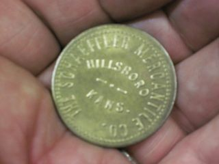 Good For $1 In Trade Token Hillsboro Kansas Coin The Schaeffler Merchantile Co photo