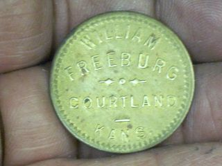 Good For 50c In Trade Token Courtland Kansas Coin William Freeburg photo