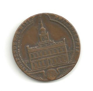 Pa.  Philadelphia Independence Hall/john Wanamaker 25th Anniv Medal 1901 photo