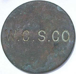 Turks & Caicos Islands,  British West Indies - West Caicos Sisal Co 6 Pence Token photo