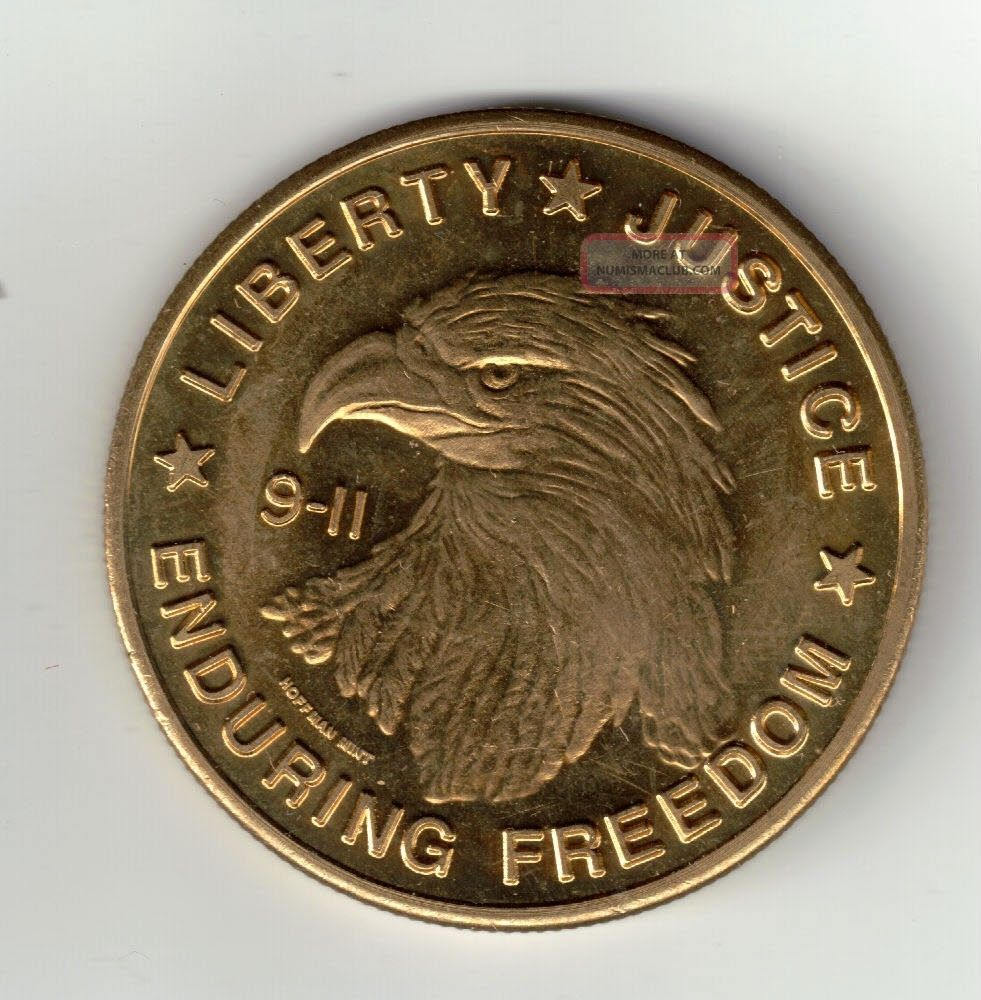 9 - 11 Liberty,  Justice,  Enduring Freedom - Medal - Coin Exonumia photo