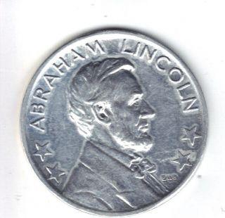 Rare Abraham Lincoln Mazuma 25 Cent Lucky Play Money Coin photo