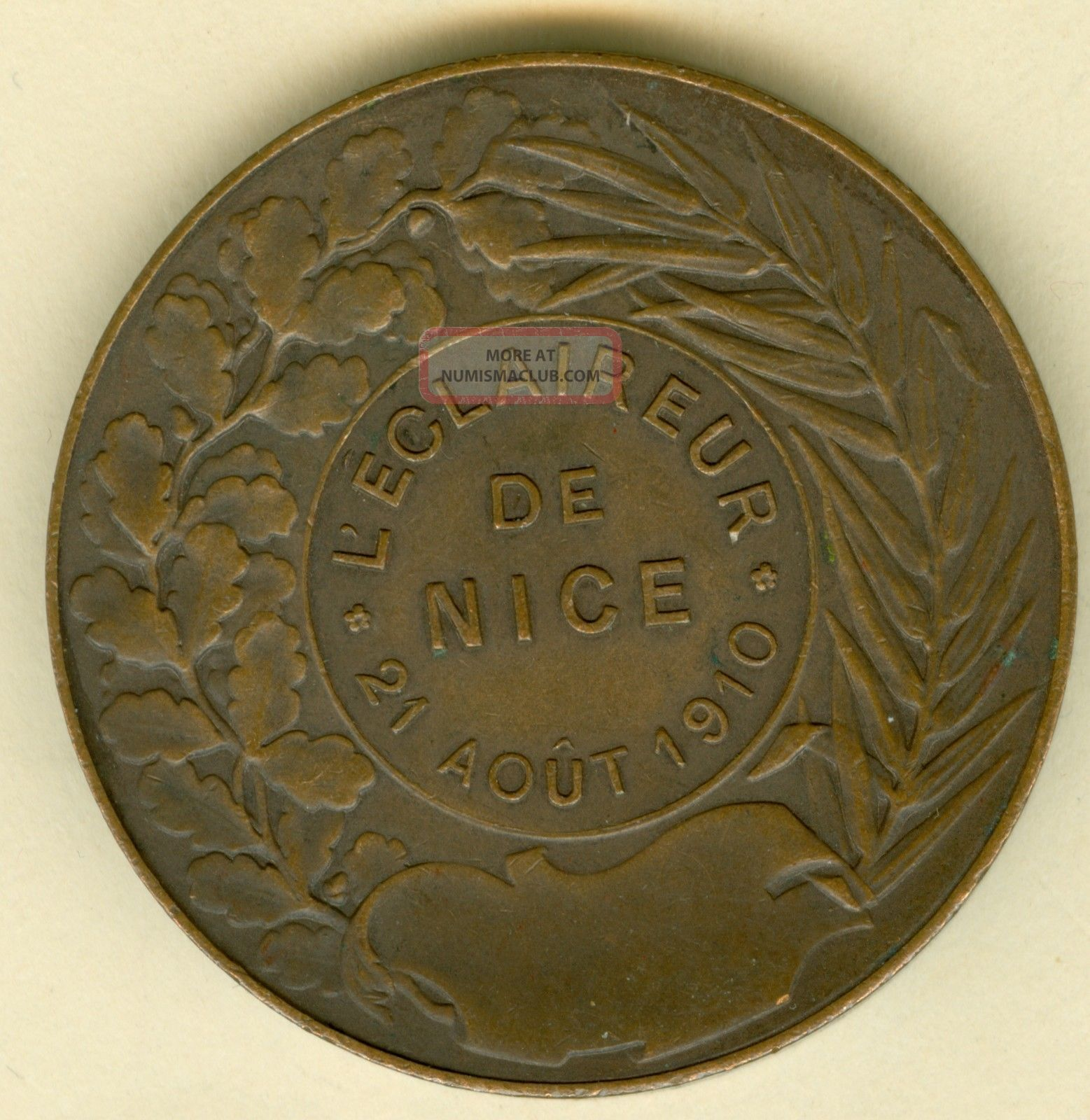 1910 French Medal In Honor Of The Scouts Of By S Kulle