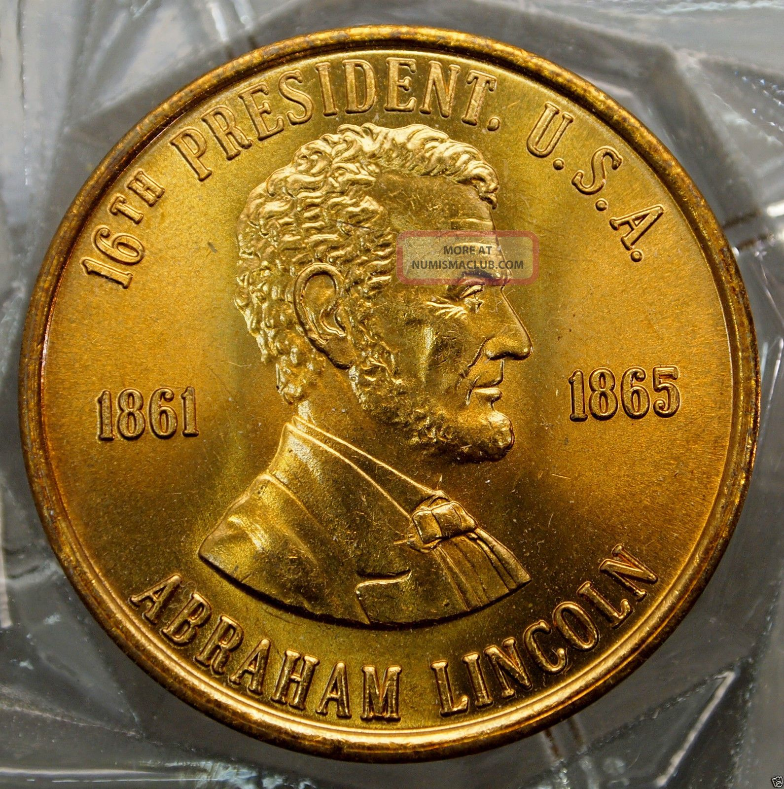 Abraham Lincoln 16th President Of The U S A Brass