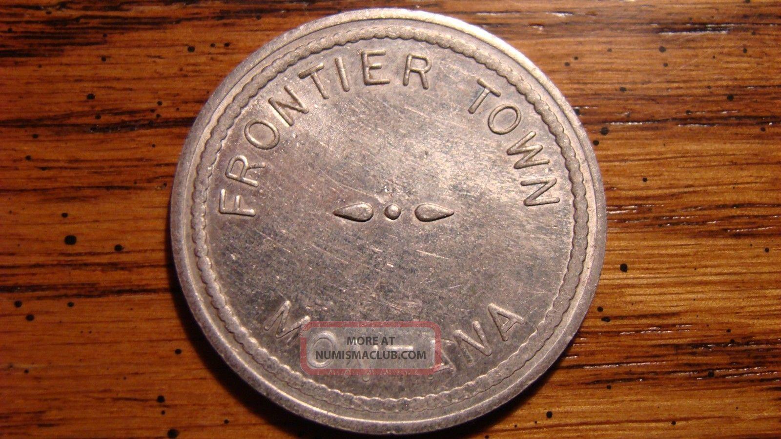 Frontier Town Montana Mt 25¢ Aluminum Trade Token 1900s Exonumia photo