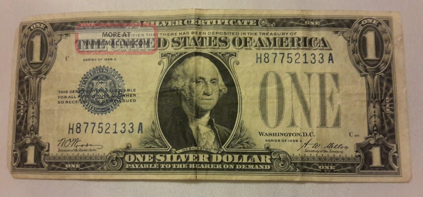 1957 One Dollar Silver Certificates