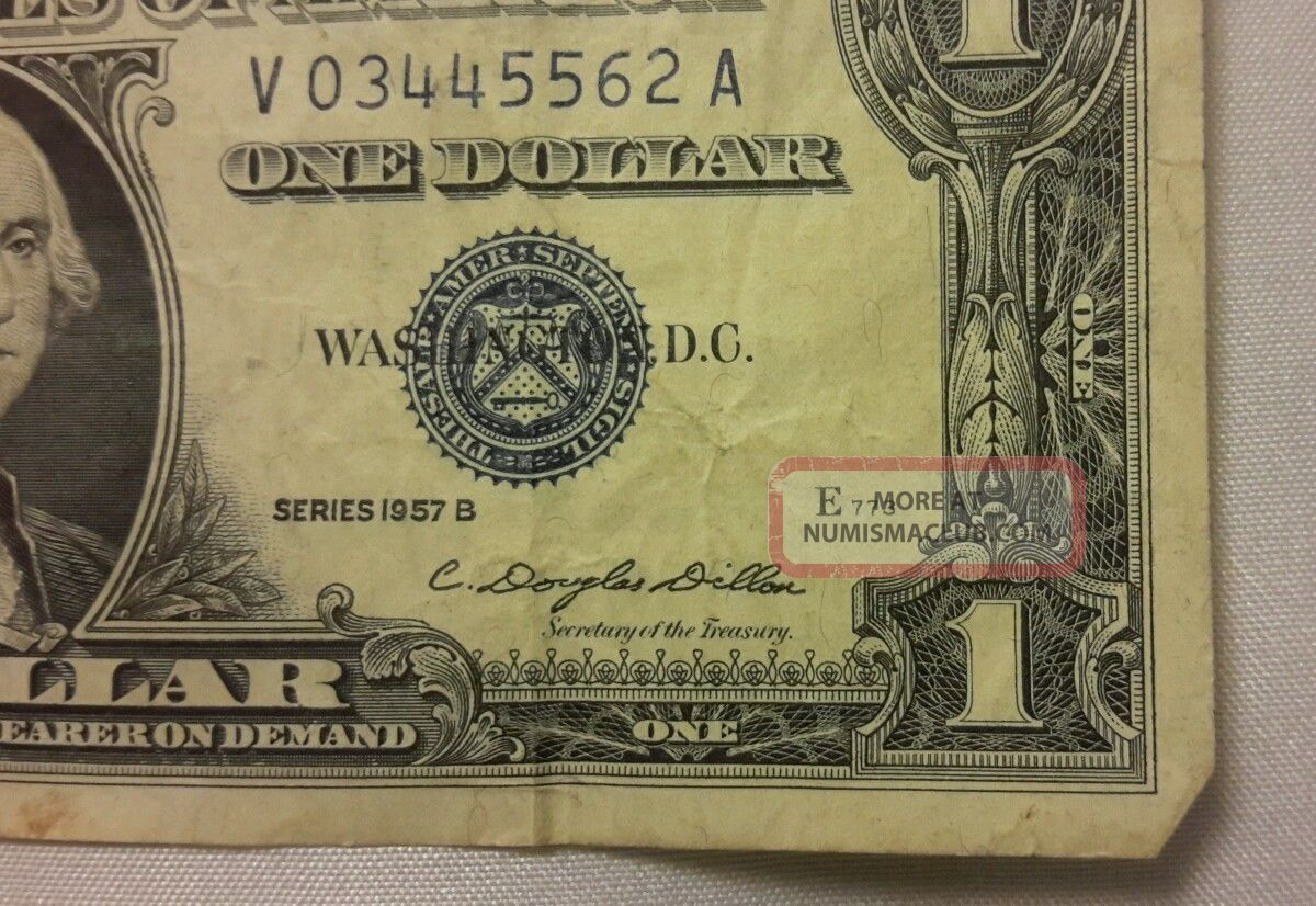 paper silver money dollar certificate 1957 note circulated notes enlarge certificates