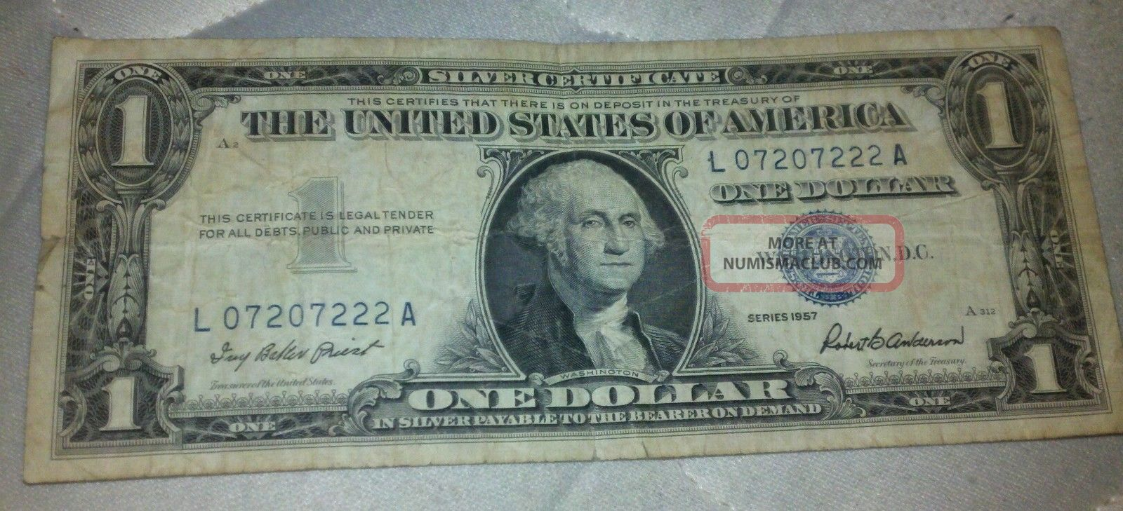 One Dollar Silver Certificate 1957 Value Lenscrafters