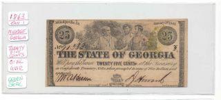 1863 25 Cents Cr - 15 - Civil War