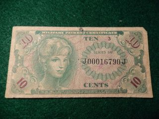 Military Payment Certificate 10 Cents photo