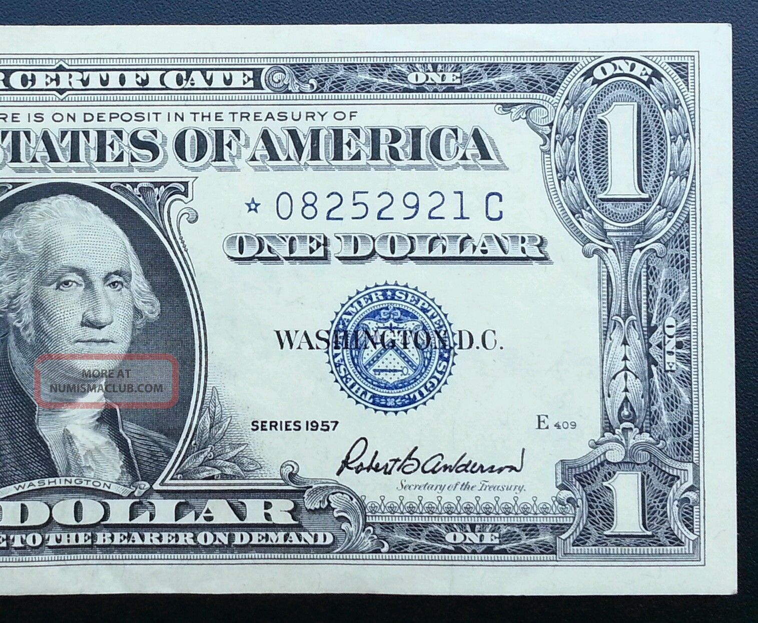 1957 Silver Certificate Star Note Blue Seal Dollar Bill Uncirculated