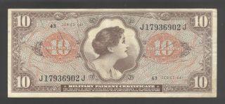 United States Of America 10 Dollars 1965 Vf P.  M 63 photo