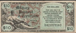 Us / Mpc,  $10,  Nd.  1951,  M 28,  Posetion 48,  Series 481,  Rare photo