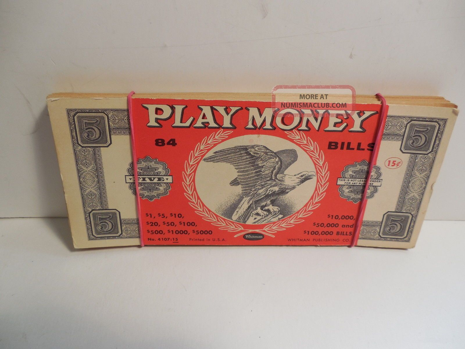Vintage Stack Of Whitman Play Money - 71 Of 84 With Cover Bill - Cond. Paper Money: US photo