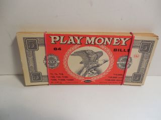 Vintage Stack Of Whitman Play Money - 71 Of 84 With Cover Bill - Cond. photo