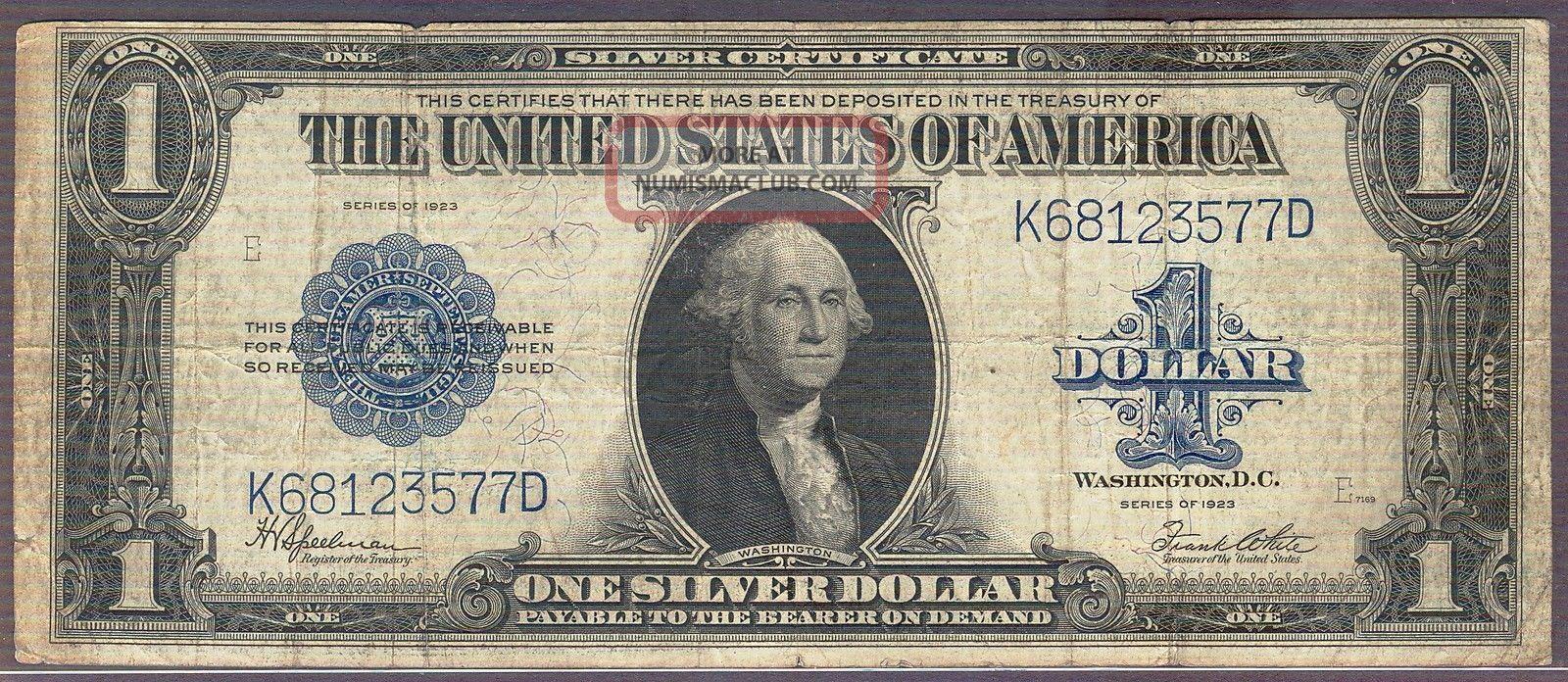 1923 Silver Certificates