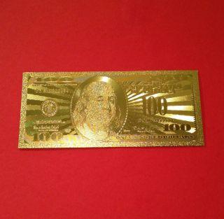 . 999 Gold Foil $100 Dollar Bills photo