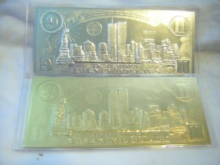 $20 Sept 11th Leaf Coin Cert.  1 Gold & 1 Silver Same Low Serial Number On Both photo